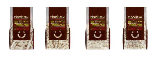 Risolino gluten free pasta packages