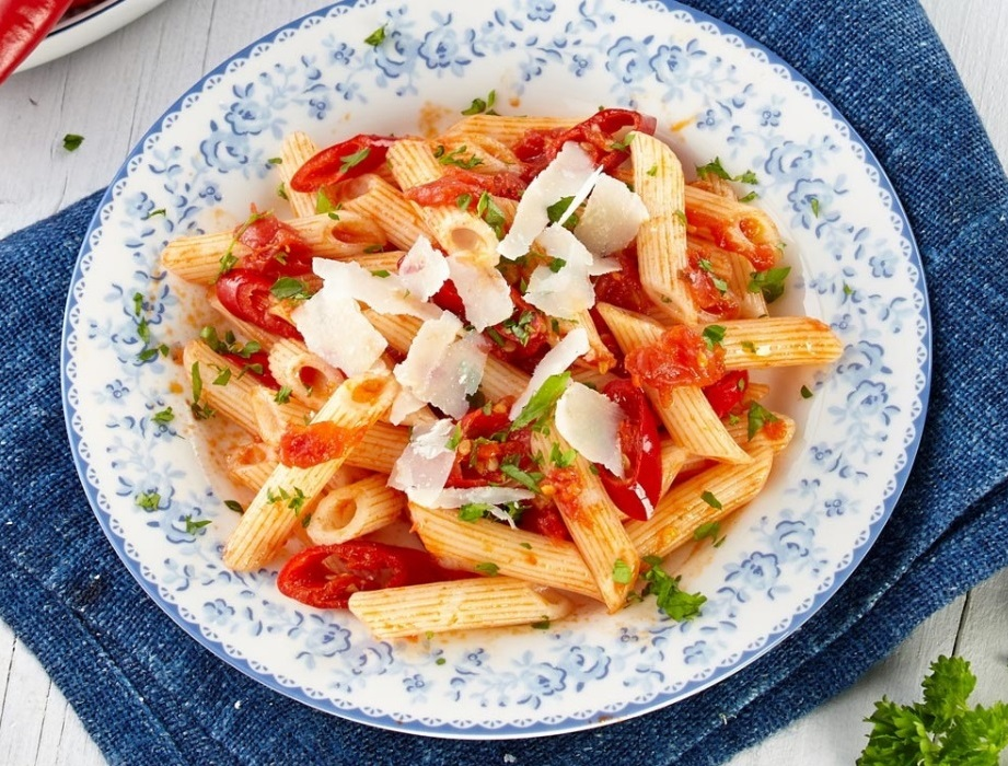 rice pasta Risolino recipe - PENNE ARRABIATA