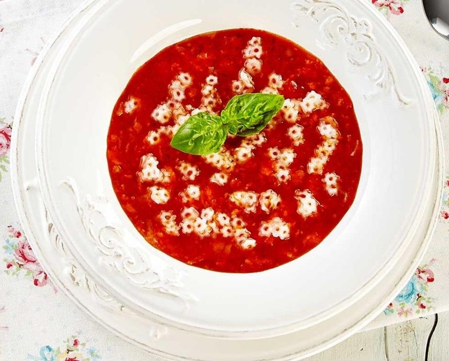 rice pasta Risolino recipe - STARS WITH TOMATO SOUP